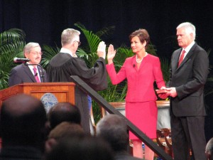 Lt. Gov. Kim Reynolds took her second oath of office Friday at Community Choice Credit Union Convention Center in Des Moines.