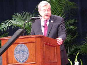 Gov. Terry Branstad addressed Iowa's need to improve its infrastructure during his Inaugural Address on Friday.