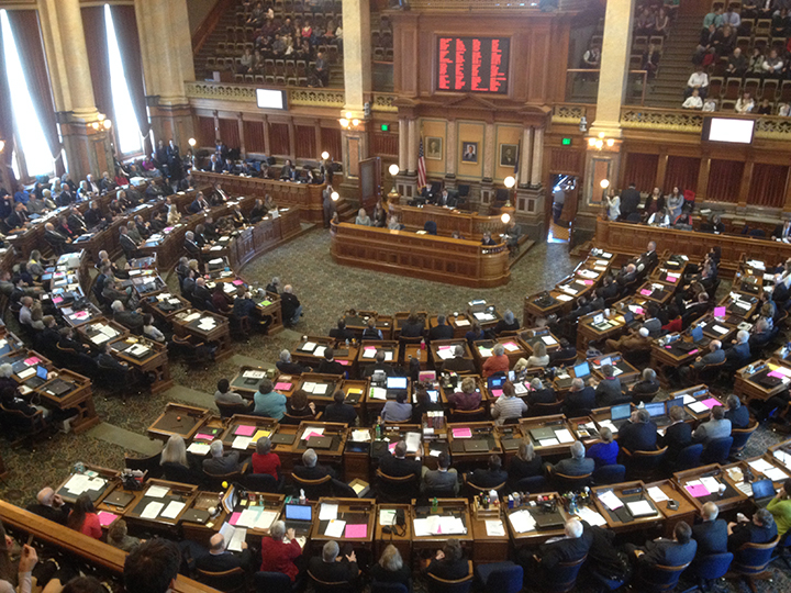 The Iowa House of Representatives opened the 86th General Assembly on Monday morning.