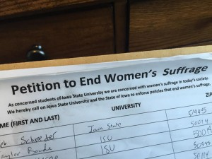 ISU Women's Suffrage Petition