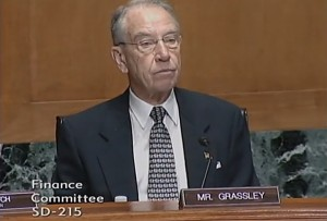 Grassley Finance Committee -- IRS Questions