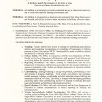 Page One of Executive Order 86 (Click to view in full size)