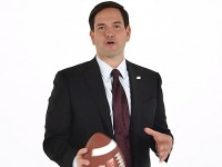 Rubio plays some political football in new video