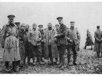 German and British soldiers together during one of the several Christmas Truces in 1914.