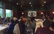 Kendra Mills Arnold, general counsel to the Foundation for Accountability and Civic Trust, speaks to Polk County Republican Women